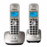 Р/телефон Panasonic KX-TG2512RUN  DECT, 2 тубки, платина